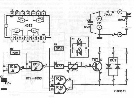 Semiconductor tester circuit diagram