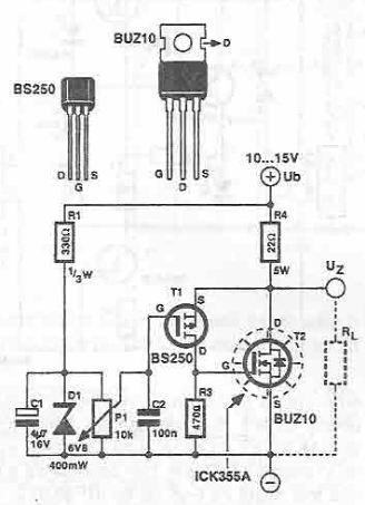 DIY super zener circuit diagram