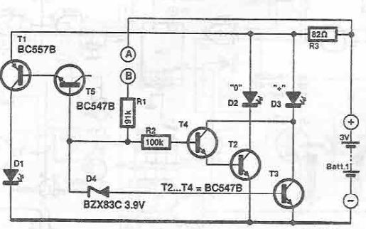 Probe test circuit using transistors