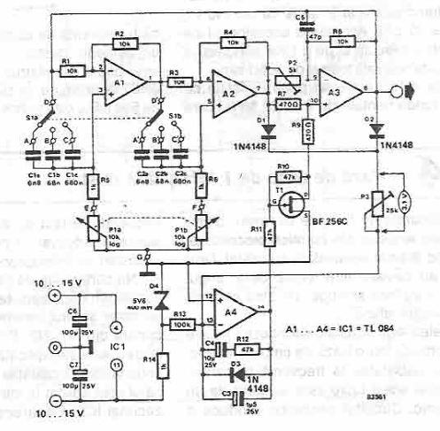 Tone generator electronic project circuit diagram