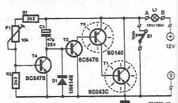 Electronic timer circuit with transistors