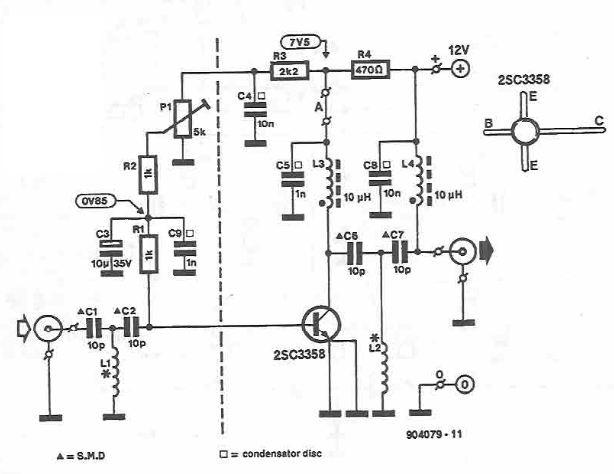 UHF amplifier circuit diagram
