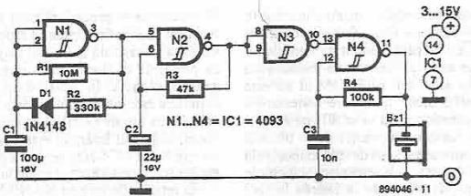 Function indicator circuit with CMOS