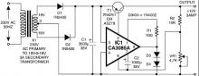 12v 3A power suppply circut schematic diagram
