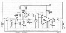 LM384 2 way intercom system circuit