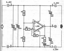 L165 symmetrical power supply circuit diagram project