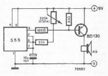 555 timer circuit metronome