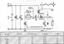 74HC132 voltage doubler circuit