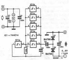 Voltage inverter circuit diagram