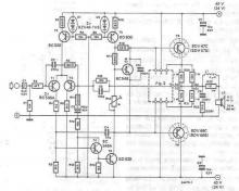 70 - 90 watts audio amplifier electronic project circuit diagram