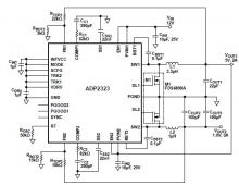 5 volt DC DC step down converter using ADP2323
