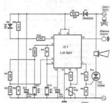 LM1801 Smoke detector electronic project circuit diagram using LDR