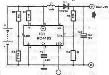 9volt switching power supply using RC4193 SMPS controller schematic