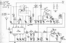 TCA440 FM CB radio receiver circuit schematic