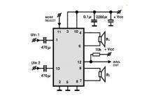 TDA8560 2x40 watt car audio amplifier circuit schematic