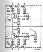 70 - 90 watts audio amplifier protection circuit