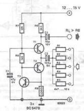 Audio mixer circuit diagram project using transistors