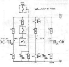 Electronic switch for audio signals circuit diagram