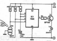 Autodisconnect lighting electronic circuit diagram project