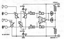 stereo Balance indicator circuit diagram