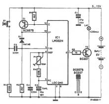 Automatically disconnect power supply circuit diagram