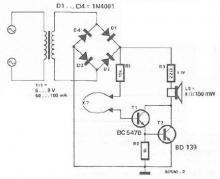Continuity tester circuit diagram