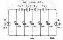 Filter carrier with narrow bandwidth circuit