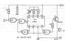 Electronic alarm with delayed trigger circuit diagram