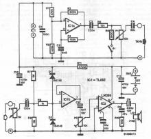 Electrical and electronic circuits tester circuit diagram