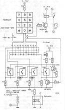Simple electronic lock circuit diagram