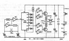 Electronic tuning fork circuit diagram project