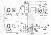 electronic thermometer for heat sink circuit diagram