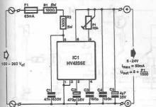 HV2405E transformerless stabilizer circuit diagram