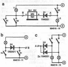 Simple indicator with buzzer circuit diagram