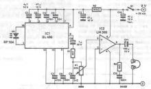 Infrared audio receiver circuit diagram