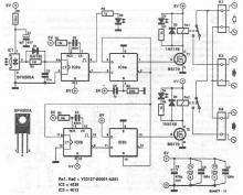 SFH505A infrared triggered switch circuit diagram