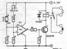 Light dependent switch circuit diagram