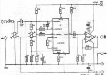 LM1496 frequency doubler circuit