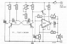 LM389 electronic siren circuit diagram