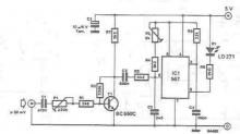 Infrared audio transmitter electronic project