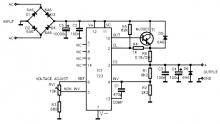 LM723 power supply electronic project circuit diagram