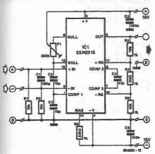 SSM2015 microphone preamplifier circuit