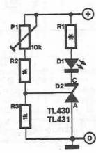 TL430 and TL431 voltage monitoring circuit diagram project