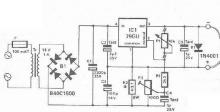 Mini drill speed regulator using voltage regulator schematic circuit