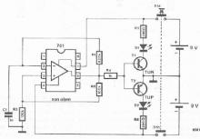 Operational amplifier testercircuit diagram