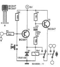 Pulse relay driver circuit diagram