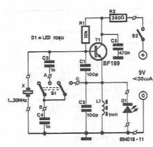 Electronic tester for quartz crystals circuit diagram