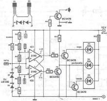 Temperature radiator indicator electronic project circuit diagram