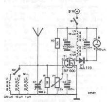 RF field detector circuit diagram