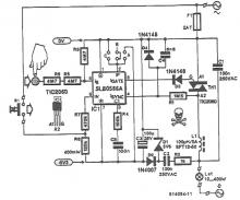 SLB0586A touch control dimming circuit